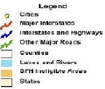 USDA Rural Housing Map Legend